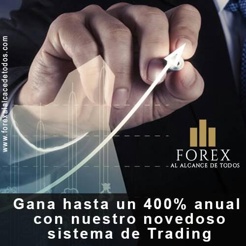 Forex al alcance de todos gana hasta un 400% anual con nuestro novedoso sistema de trading